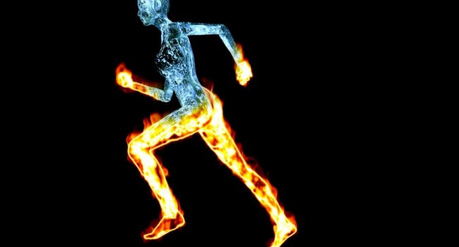 Runner on Fire