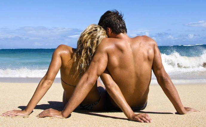 Guy and Girl Beach Body